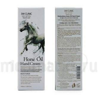 Крем для рук 3W Clinic Horse Oil Hand Cream