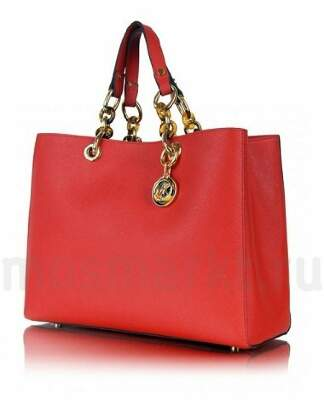 Michael Kors Cynthia Saffiano Satchel Medium Red