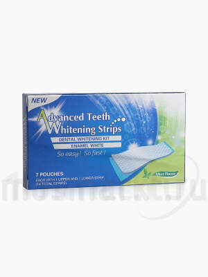 Dental 360 Advanced Teeth Whitening Strips Mint Flavor