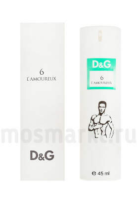 Dolce and Gabbana 6 L Amoureux man