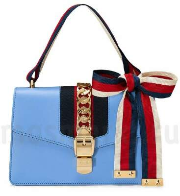 GUCCI SYLVIE  Leather Blue